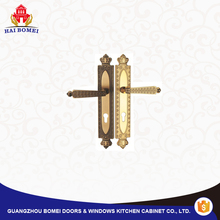 Fancy design wooden door handle lock set for sales