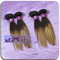 bohemian hair ombre color straight hair #2-#30 wholesale human hair extension