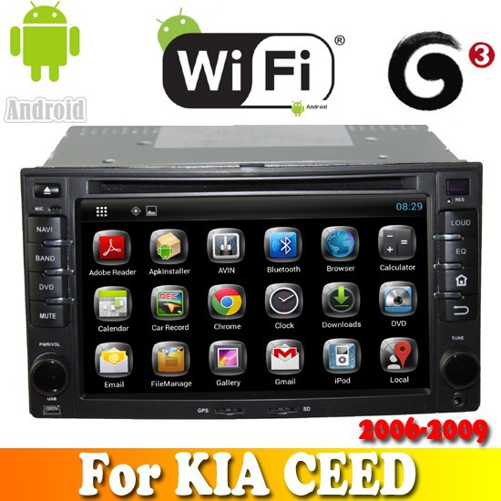 Dual Core android 4.2.2 touch sreen car dvd gps navigation for KIA CEED 2006-2009 car radio with bluetooth ipod tv wifi 3G