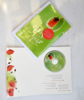 Germany mini cd christmas music greeting cards printing