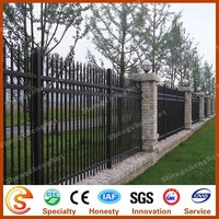 New type wrought iron fence palisade picket fence manufacturer