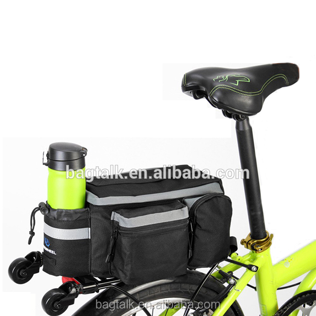 BB-001N Carry Travel Reflective Led Bicycle Saddle Seat Bag Bike Bag with Cooler Pocket