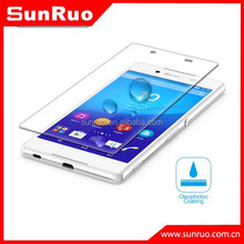 Cell phone tempered glass screen cover for Sony z4, for Sony z4 screen film