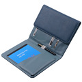China Weiyi Leather A4 Business Portfolio Leather Notebook Tri-fold Portfolio