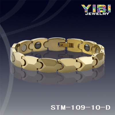 Bioexcel Quantum Tungsten Magnetic Energy Bracelet - Gold Lock Design + Gifts