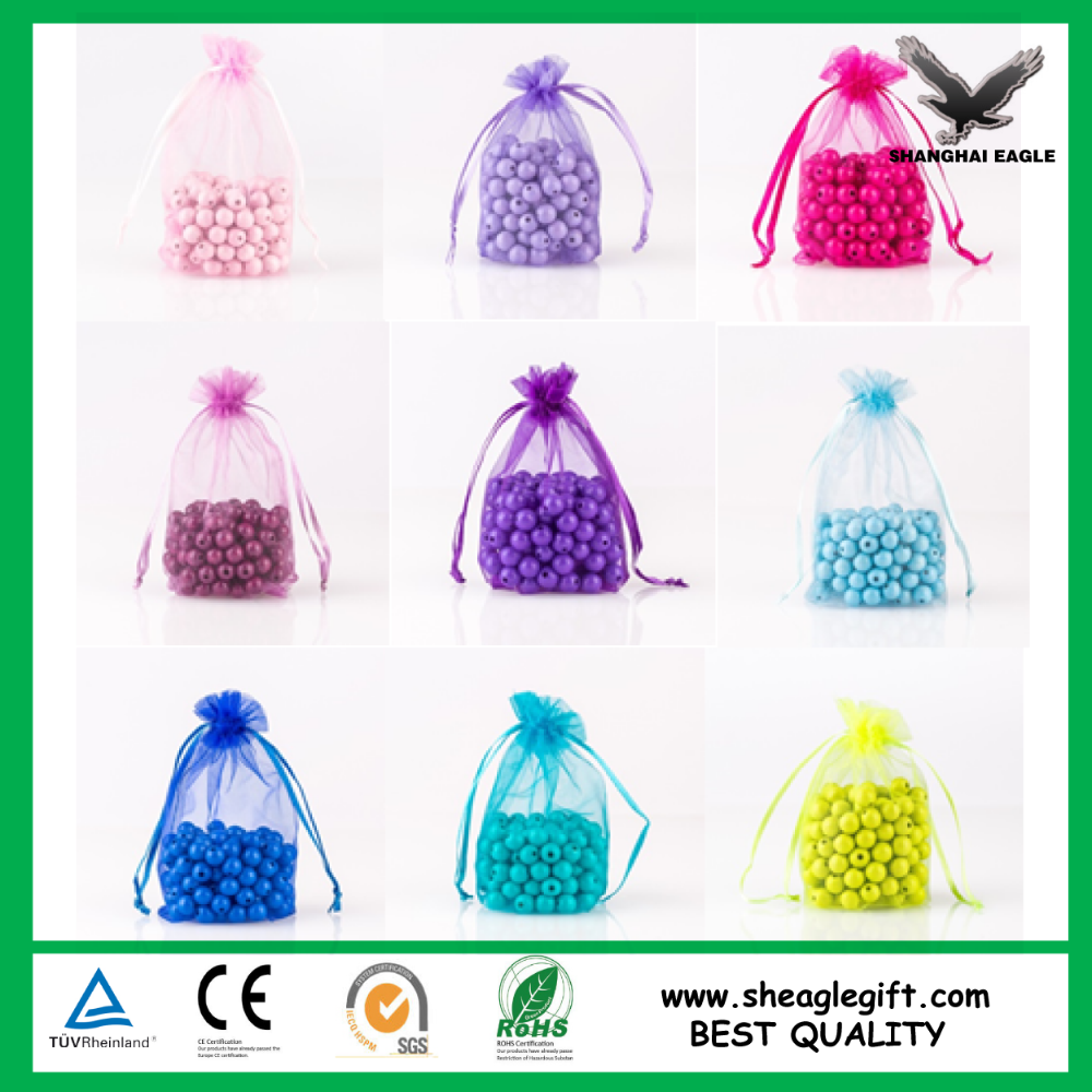 Large Stock Colorful Any Size Cheap Customized Organza bag