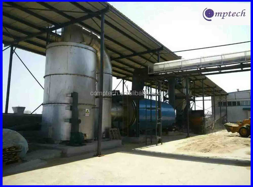 Full automatic sawdust dryer with biomass fuel burner