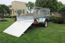 SZCT Hot Dipped Galvanized Utility Farm Used Aluminium Ramp Caged Box Trailers