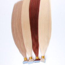 "Bestseller alibaba france price 20"" body wave remy walker white tape hair extension camel color invisible tape hair"