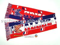 jacquard football soccer fans sports scarf