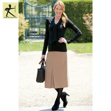 2017 new trend latest formal skirt blouse patterns women comfortable winter warm elegant long maxi skirt for ladies