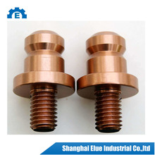 customed cnc lathe precision polished copper parts
