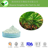 GMP Certified White Powder cas no. 142-62-1 serenoa repens extract/saw palmetto extract