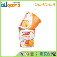 Various size available aluminum foil coated PP packaging cup for yogurt