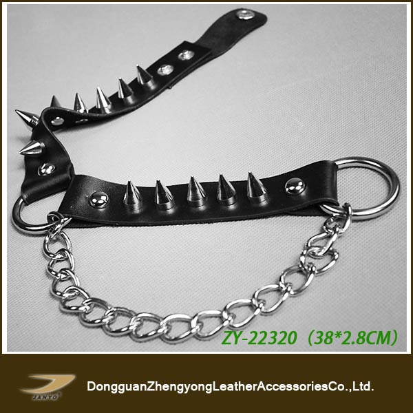 fashion bleak leather accessories boot belts,metal studed boot straps