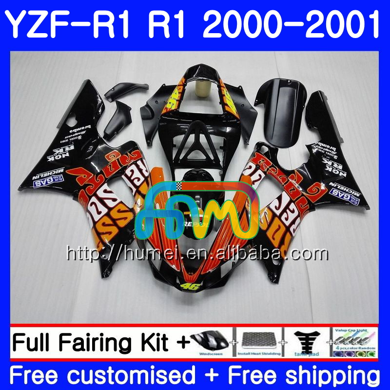 Body For YAMAHA YZF R 1 YZF 1000 Repsol Orange YZF-<strong>R1</strong> <strong>00</strong>-01 Bodywork 98HM7 YZF1000 YZF-1000 YZF <strong>R1</strong> <strong>00</strong> 01 YZFR1 2000 2001 Fairing
