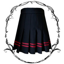 Women High Waist A-line Pleated Skirt