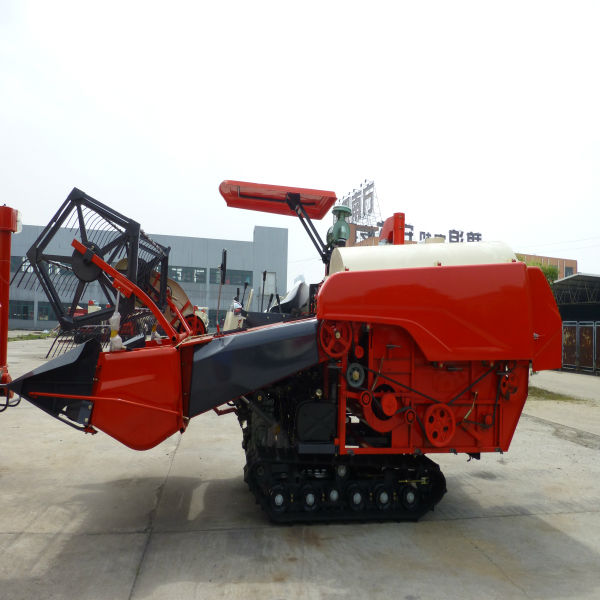 China manufacturer rubber tracked farm combine harvester for cereals