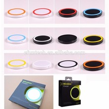 2016 China factory OEM phone acessory round wireless charger for samsung note5