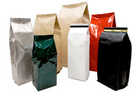 kraft brown paper bags packaging coffee bags with zipper foil lined