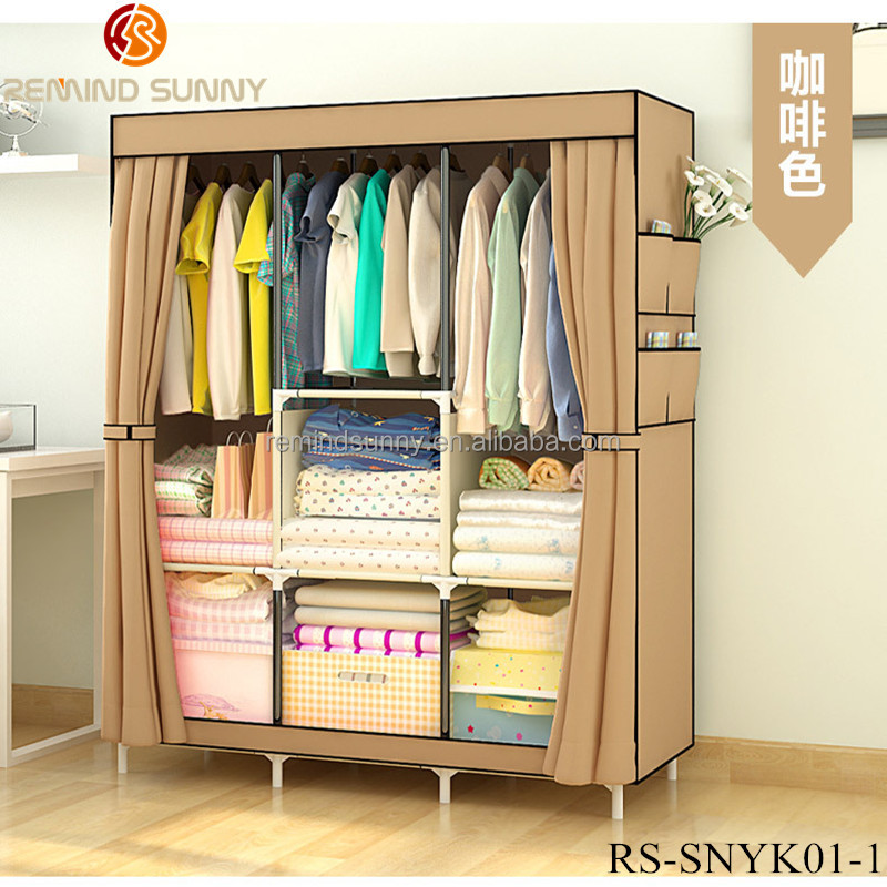 Non-Woven Easy Assemble Cloth Custom Wardrobes for Sale