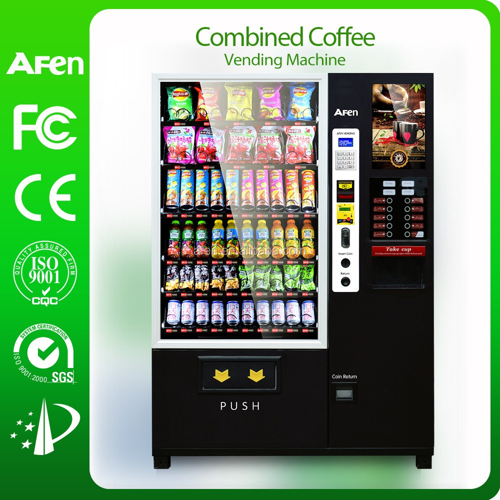 10 Aisles spring coils nescafe coffee machine/snack and drink coffee vending machine