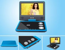 Portable DVD Player With TV Tuner manufacture wholesale USB SD GAME TV FM RADIO home family good quality video flat screen cheap