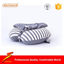 STABILE Fashion Hot sale Sleeping Memory Foam Travel Neck Pillow With Cap/Hat