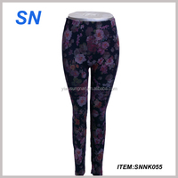 wholesale colourful ladies leggings multi color printed leggings