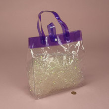 Hard soft plastic clear tote bags pvc gift bags with button