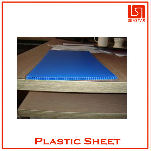 High density corrugated plastic floor board material
