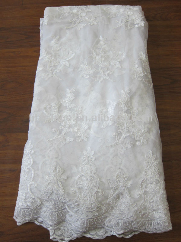 tita new arrival high quality pure White handwork embroidery Net Lace