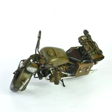 2016 new design 100% handmade vintage metal crafts army green Dirt bike home decoration Harley Davidson Motorcycle model