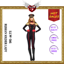 Top King Good quality Good price Sexy Lady Halloween Russian Soldier Costumes for Lady LLW 316