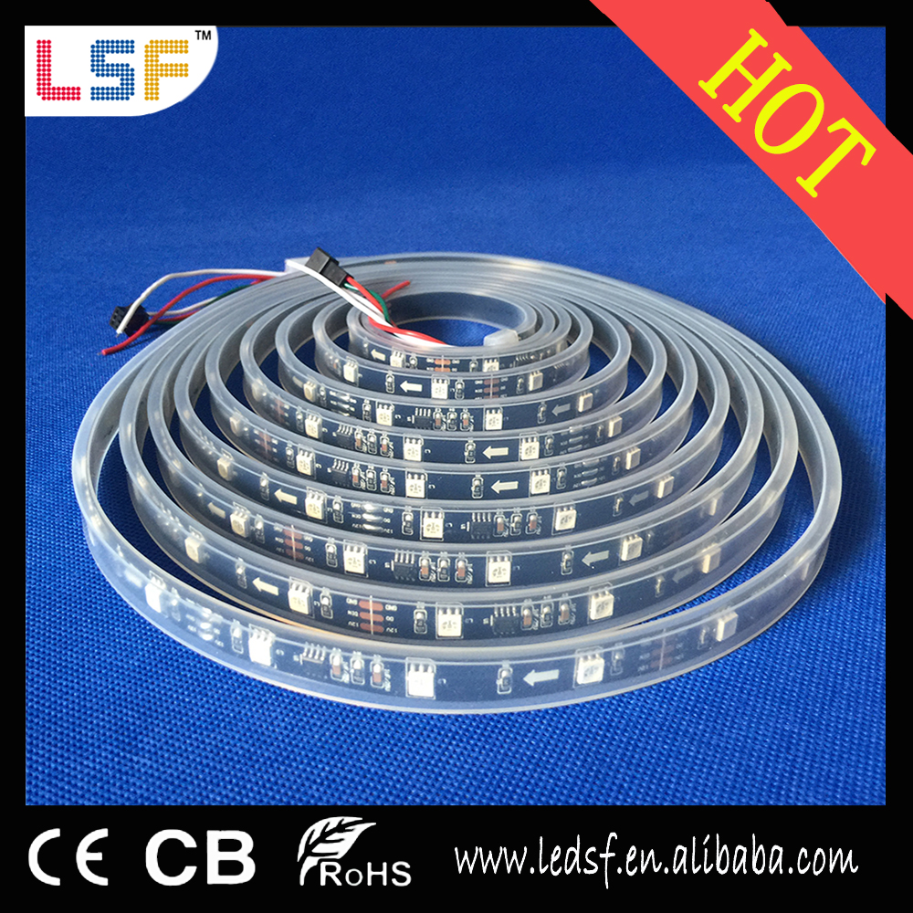 Hot sale 12V 30 leds/M SMD5050 RGB led strip light 10mm for gold supplier