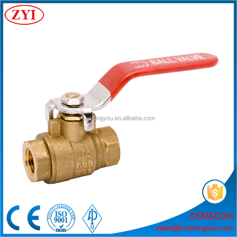 China supplier best quality light weight 1pc 2pc copper ball valve
