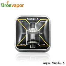2016 China Supplier Whoelsae Aspire Nautilus X Cartomizer 2ml atomizer with adjustable top airflow, leak proof desig nautilus X