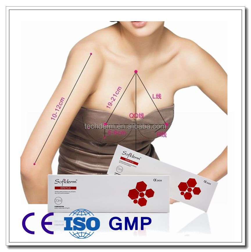 CE certificate Sofiderm Medical Hyaluronic Acid Gel Injectable Dermal Fillers Breast Enlargement