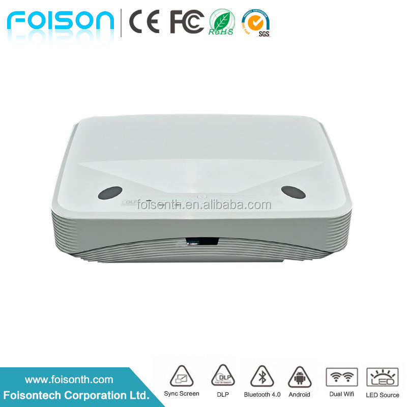 6000 lumen native 1280x800 HDMI USB Port Laser DLP Projector 120W Power Mirroring WIFI LED Light android smart projector