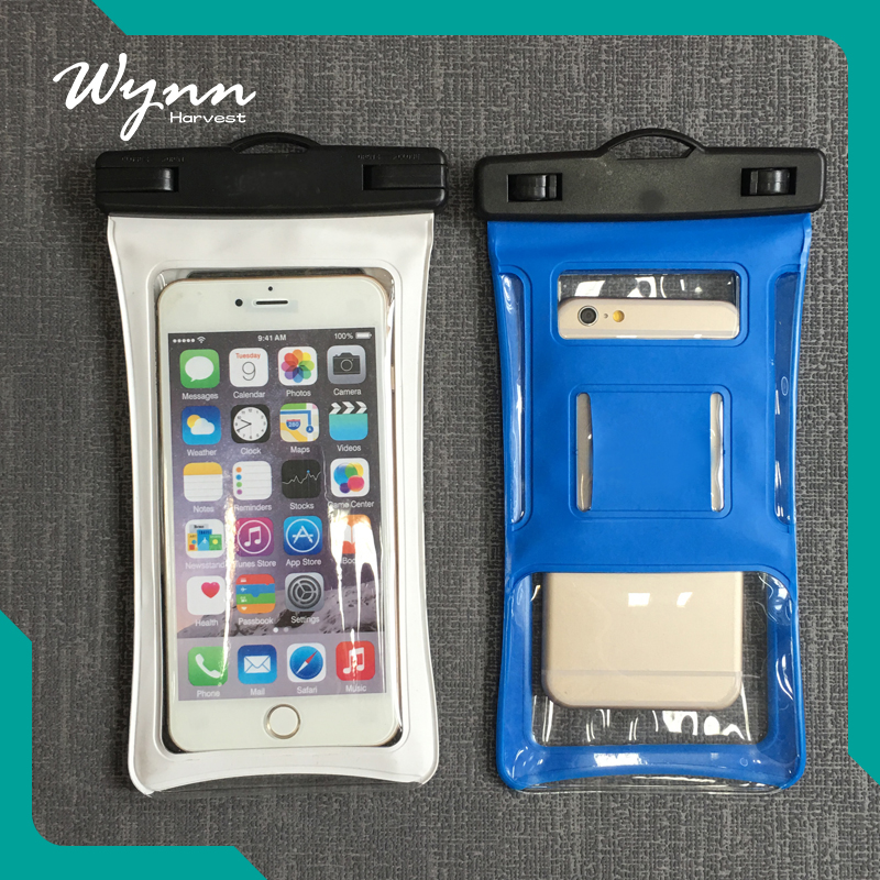 Shenzhen mobile phone sets of exports pvc waterproof phone dry bag with zipper