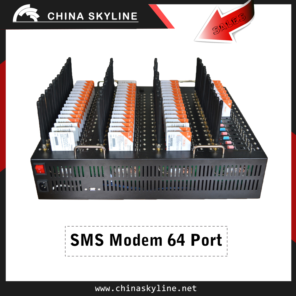 16 ports bulk sms modem AT command gsm sms gateway manufacturer in China