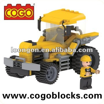 COGO Engineering Tractor intelligent children plastic building blocks toys