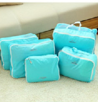 Korean Design Waterproof foldable travel bag set Traveling Clothes Packing 5pcs Bag In Bag