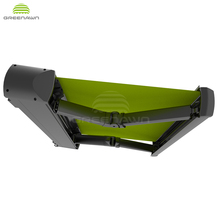 Aluminum folding arm awning motorized retractable awnings full cassette awning