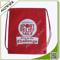 Polyester Made Drawstring Sports Bag For Gym