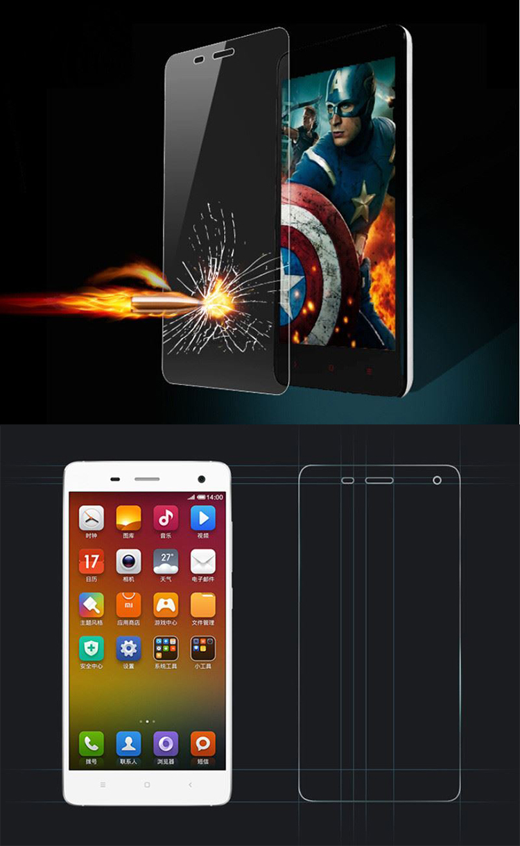 Untra thin film For xiaomi redmi note 4 tempered glass mobile phone accessories screen protector for xiaomi note 3