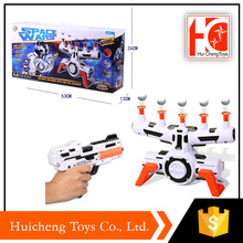 hot products kids toys game suspension flyball shooting gun with music