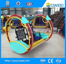 double roller amusement entertainment plaze happy car machine suppliers