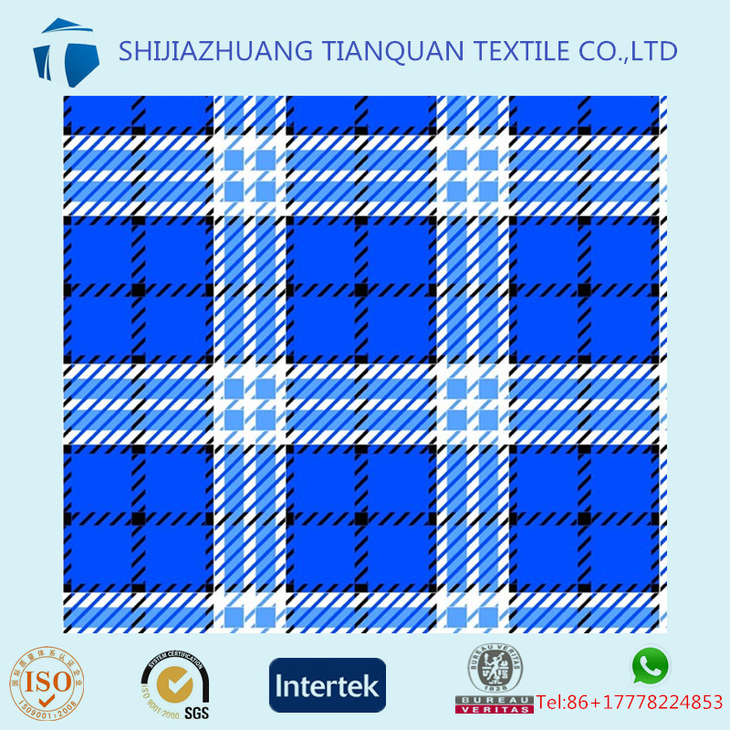Factory and High-grade!!factory mills high quality printed yarn dyed cotton flannel fabric
