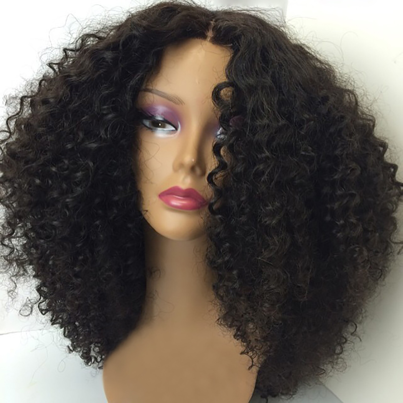 wholesale virgin hair vendors virgin brazilian hair natural color kinky curly human hair lace front wig